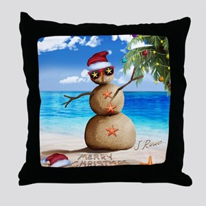 J Rowe Christmas Sandman Throw Pillow