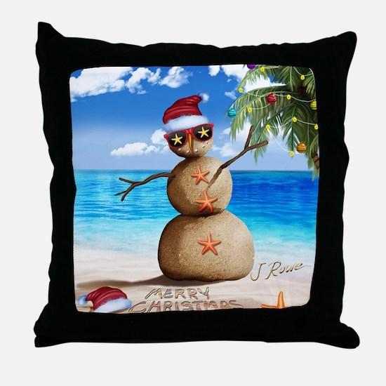 J Rowe Christmas Sandman Throw Pillow