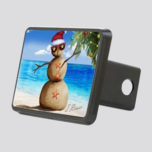 J Rowe Christmas Sandman Rectangular Hitch Cover
