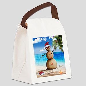J Rowe Christmas Sandman Canvas Lunch Bag