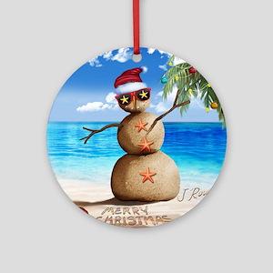 J Rowe Christmas Sandman Round Ornament