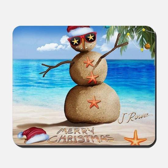 J Rowe Christmas Sandman Mousepad