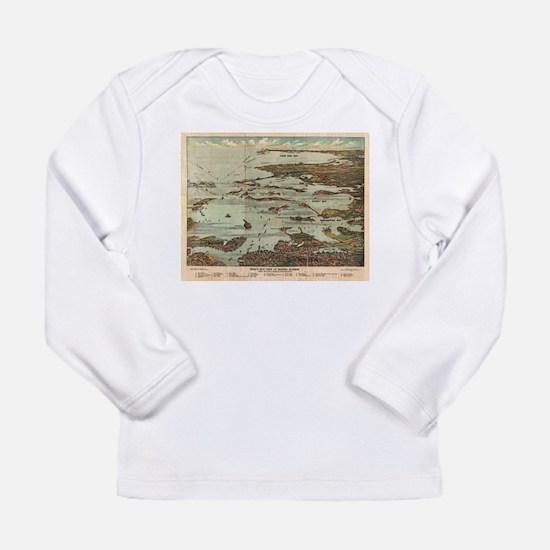 Boston Harbor Birdseye-view ma Long Sleeve T-Shirt