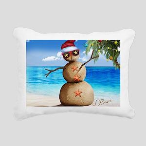 J Rowe Christmas Sandman Rectangular Canvas Pillow