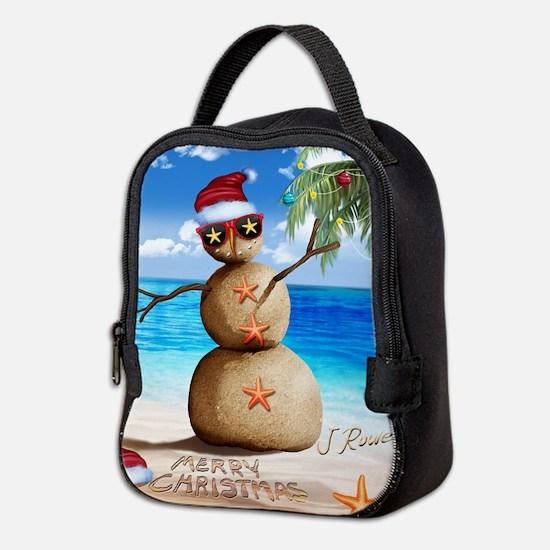 J Rowe Christmas Sandman Neoprene Lunch Bag