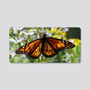 Sunshine Monarch Butterfly Aluminum License Plate