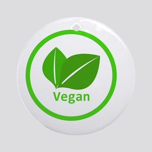 vegan symbol Round Ornament