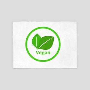 vegan symbol 5'x7'Area Rug