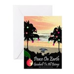 Tropical Peace ChristmasCards (Pk of 10)