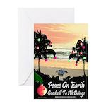 Tropical Peace Christmas Card