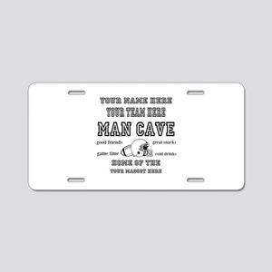 Football Mancave Aluminum License Plate