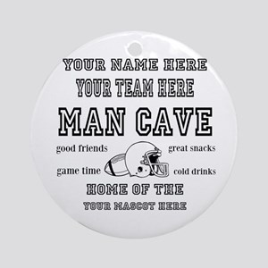 Football Mancave Round Ornament