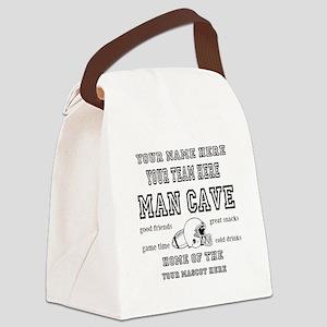 Football Mancave Canvas Lunch Bag