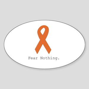 Fear Nothing: Orange Ribbon Sticker