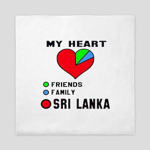 My Heart Friends, Family and Sri Lanka Queen Duvet