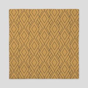 Gold And Black Art Deco Pattern Queen Duvet