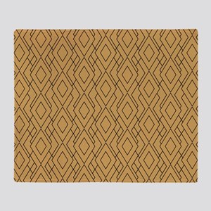 Gold And Black Art Deco Pattern Throw Blanket