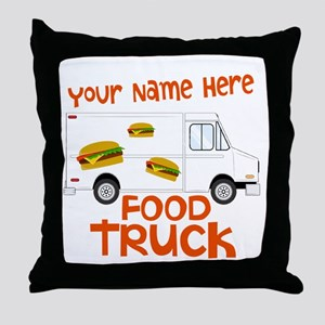 Food Truck Throw Pillow