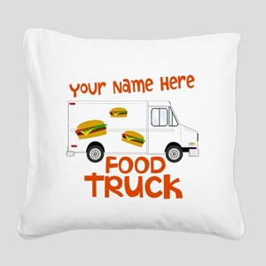 Food Truck Square Canvas Pillow