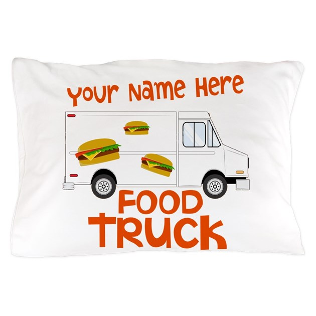 Food truck pillow case by crazyholidays for Design your own food truck online