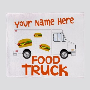 Food Truck Throw Blanket