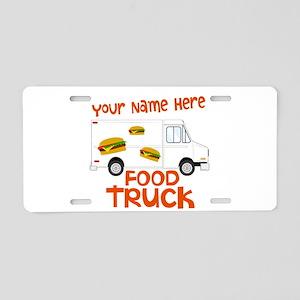 Food Truck Aluminum License Plate