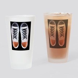 Black and White Sneaker Shoes Drinking Glass