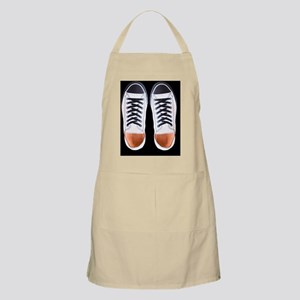 Black and White Sneaker Shoes Apron