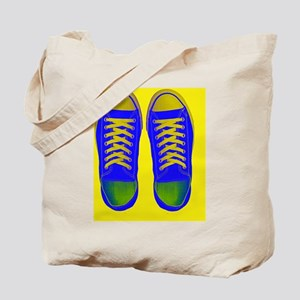 Blue Yellow Green Sneaker Shoes Tote Bag