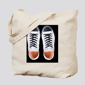 Black and White Sneaker Shoes Tote Bag