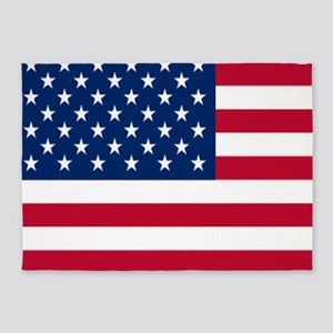 patriotic USA American flag 5'x7'Area Rug