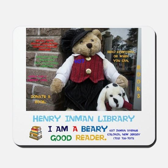 I Am A Beary Good Reader. Henry Inman Li Mousepad