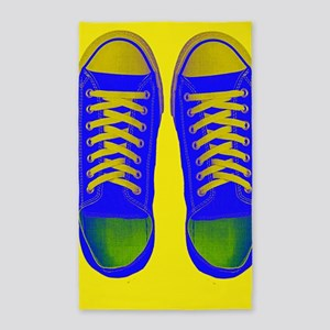 Blue Yellow Green Sneaker Shoes Area Rug