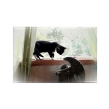 Cat and Angel Rectangle Magnet