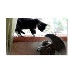 Cat and Angel 20x12 Wall Decal