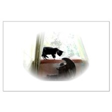 Cat and Angel Large Poster