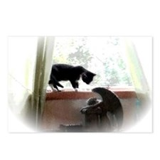 Cat and Angel Postcards (Package of 8)