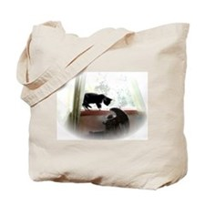 Cat and Angel Tote Bag