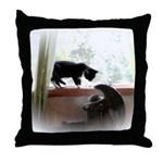 Cat and Angel Throw Pillow