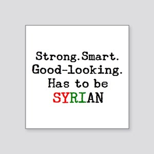 "be syrian Square Sticker 3"" x 3"""