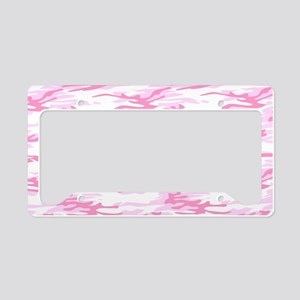 Pink Camo Plate License Plate Holder