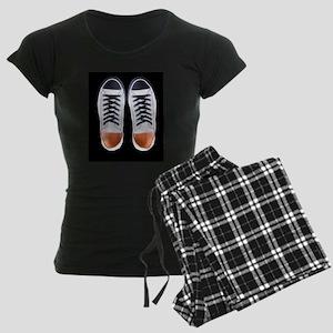 Black and White Sneaker Shoe Women's Dark Pajamas