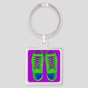 Purple Green Sneaker Shoes Keychains