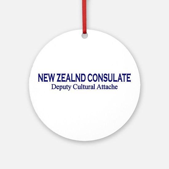 New Zealand Consultate: Deput Ornament (Round)