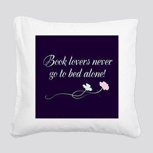Book Lovers Square Canvas Pillow