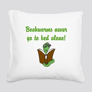 Bookworms Square Canvas Pillow