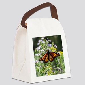 Sunshine Monarch Butterfly Canvas Lunch Bag