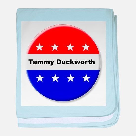 Vote Tammy Duckworth baby blanket