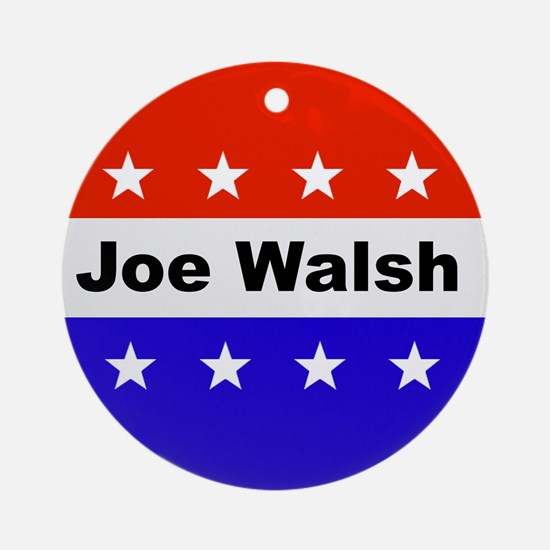 Vote Joe Walsh Round Ornament