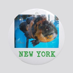 NEW YORK AVINS FISH. Round Ornament